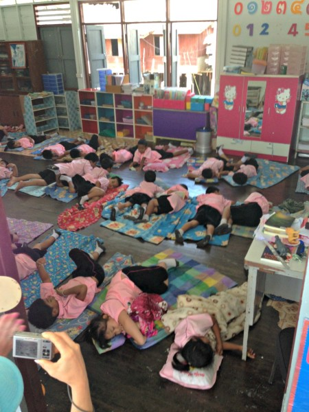 Rest time at school