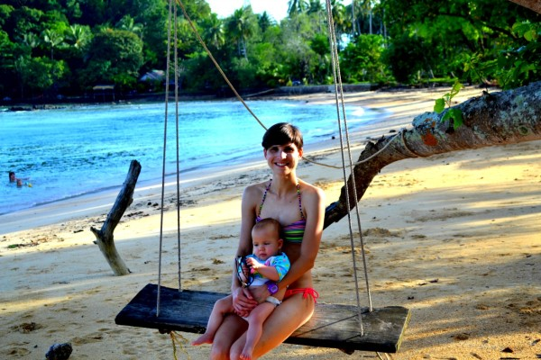 Swinging at Pasir beach