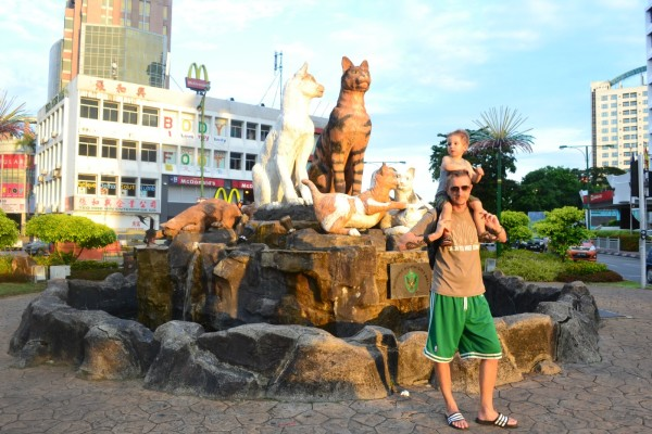 Cats are everywhere in Kuching