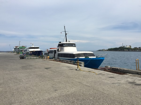 Arriving at Dumaguete port