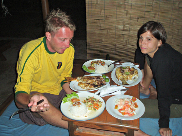 What looked as a great dinner in Gili Trawangan..