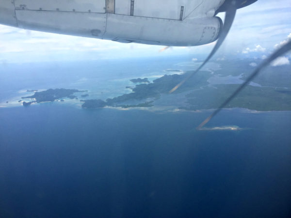 Starting our descent to to Siargao Island