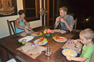 Last night dinner at Koh Jum Beach Villas