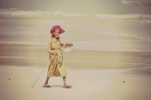 Local woman, Selong Belanak Beach