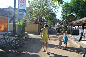 Main road, Gili Air