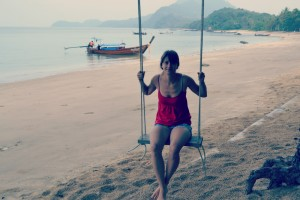 Swinging on Koh Jum beach