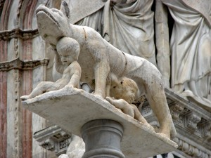Romulus and Remus at Siena Cathedral